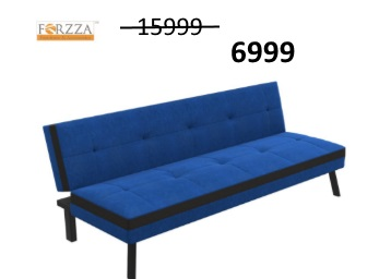 Steal Discount : Forzza Bellini Sofa cum Bed at just Rs.6999 + Extra 10% Cashback + FREE Shipping low price