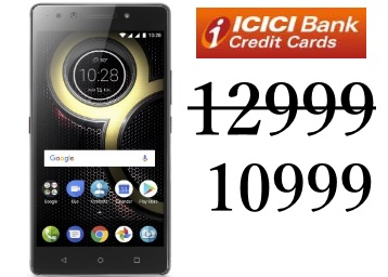 Lenovo K8 Note (4GB, 64GB) at Rs 11999 + Extra 10% Cashback low price
