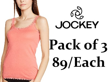 Back in Stock: Jockey Women Camisole Pack of 3 at Just Rs.269 low price
