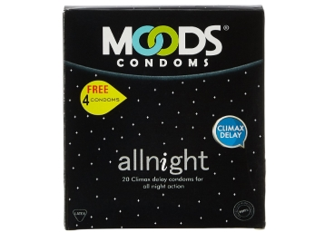 Moods All Night – 20 Condom with Free – 4 Condoms at Just Rs. 63 discount deal