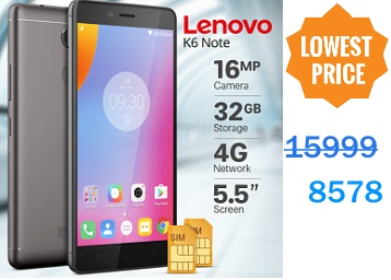 Bumper Price:- Lenovo K6 Note 32GB ROM + 4GB RAM at Just Rs. 8578 low price