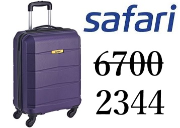 Flat 65% Off : Safari Polycarbonate 35 Ltrs Purple Suitcase At Rs. 2344 low price