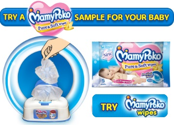 Get a FREE Sample of All New Mamy Poko Pants Wipes [5 Sheets] discount deal