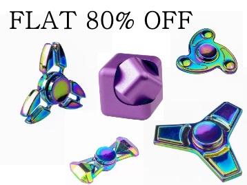 Steal : Flat 80% Off on Fidget Spinner + 20% Cashback discount deal