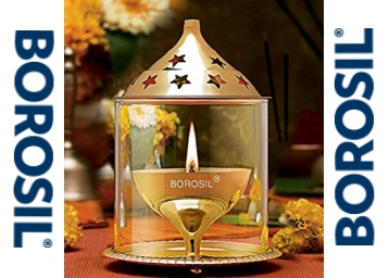 {50% Claimed} Borosil Akhand Diya (Medium, Brass) at Rs. 324 + 10% Cashback discount deal