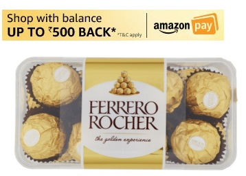 Spread the Sweetness:- Ferrero Rocher, 16 Pieces @ Rs. 356 + 10% Cashback discount deal