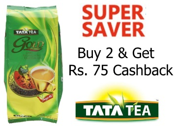 Limited Stocks:- Tata Tea Gold, 500g at Rs. 138 [Buy 2 & Get 75 Cashback] discount deal
