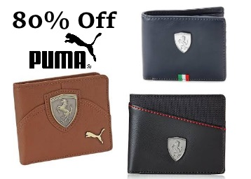 Lowest Ever :- Puma Wallets Minimum 80% OFF from Rs. 258 discount deal