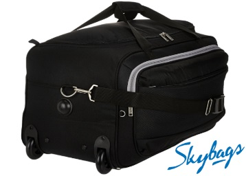 Skybags Cardiff Polyester 62 cms Black Travel Duffle at Flat 60% OFF low price