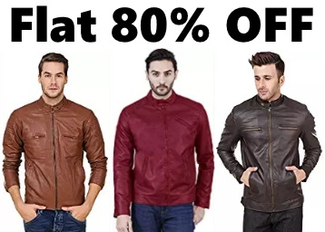 Zacharias Men's Pu Faux Leather Jacket at Flat 80% OFF low price