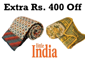 Winter Deal : Little India Cotton Single Size Quilt From Just Rs.767 + FREE Shipping low price