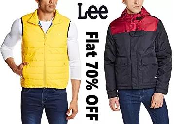 Get Flat 70% Off On Lee Jackets, Sweatshirts & Sweaters discount deal