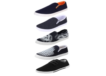 Earton Men Combo Pack of 5 Loafers & Moccasins at Just Rs. 999 + FREE Shipping discount deal