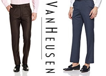 Van Heusen Men's Formal Trousers at Flat 70% OFF low price
