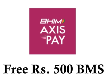 Get Free Rs. 500 BookMyShow Voucher From BHIM Axis Pay UPI app discount deal