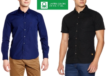 Few Styles – United Colors Of Benetton Shirts Minimum 80% Off discount deal