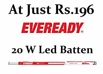 Back In Stock – Eveready LED Batten Golden Yellow 20W (4 feet) at Rs. 196 discount deal