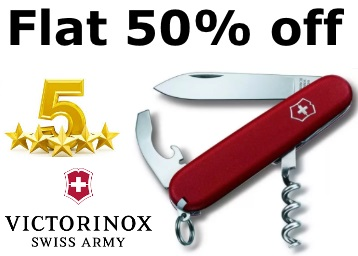 Price Down:- Victorinox 9 Function Finish Swiss Army Knife at Rs. 451 low price