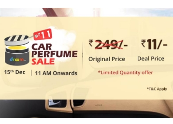 Upcoming – Get Car Perfume worth Rs 249 at Just Rs. 11 discount deal