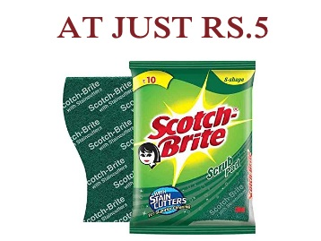 Scotch-Brite® Scrub Pad Small (1Pc) at Just Rs.5 low price