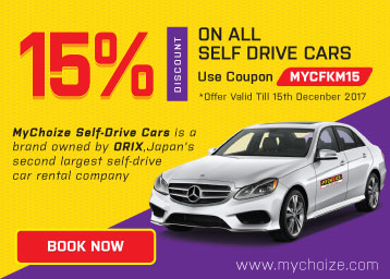 Get Flat 15% off on Self Drive Cars discount deal