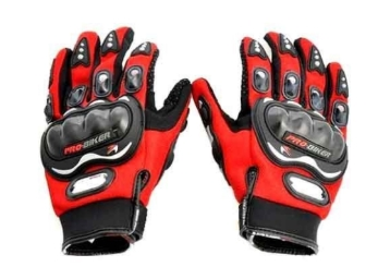 Probiker Full Finger Gloves for Bikers (Red), Large at Just Rs. 193 low price