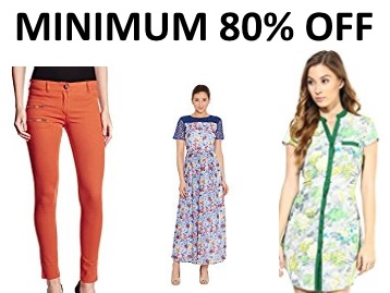 Minimum 80% Off on Branded Women's Clothing from Rs.181 low price