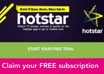 Get FREE 1 Month Trial Hotstar Premium Membership at