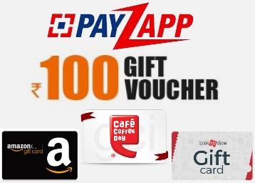 Get Rs. 100 Coupon on Amazon / Ola / BMS / CCD Via PayZapp discount deal