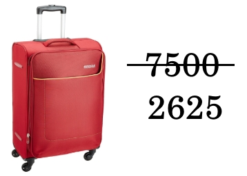 Flat 65% Off – American Tourister Jamaica Polyester 58 cms Carry On at Rs. 2625 discount deal