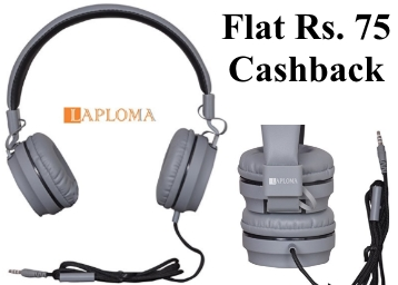 Laploma Trance Headphone with Mic Flat 68% OFF + Rs. 75 Cashback low price