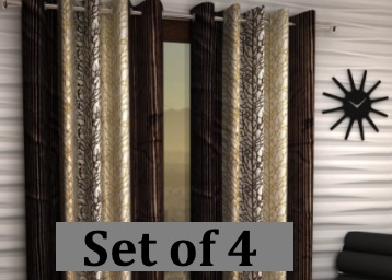 Flat 71% Off : Home Sizzler Long Door Curtain 9ft (Set of 4) at just Rs.699 + FREE Shipping discount deal