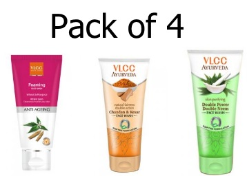 VLCC Fairness Chandan Facewash Pack of 4 at Just Rs. 143 + Free Shipping discount deal