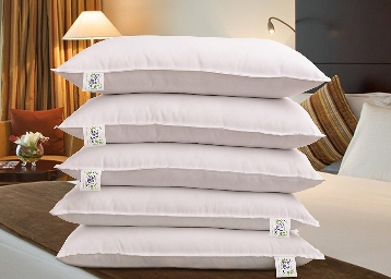 Snoopy Reliance Fibre Filled 5 Piece Pillow Set – 17″ x 27″ at Rs. 220 Each discount deal