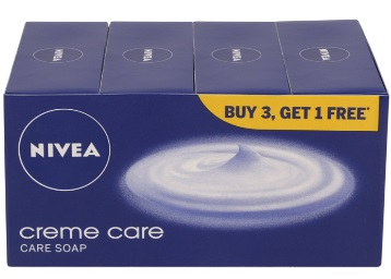 [Amazon Pantry] Nivea Creme Care Soap, 75g (Buy 3 Get 1) at Just Rs. 99 discount deal