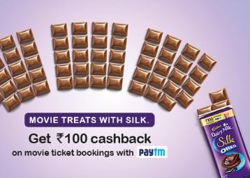 Buy Cadbury Dairy Milk Silk & Get Rs. 100 Cashback On Movie low price