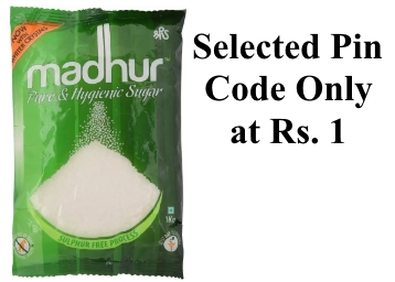 LOOT : Madhur Sugar (1 kg) at Just Rs. 1 Only (Selected Pin Code) discount deal
