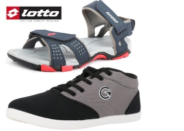 Best Combo:- Lotto Sandal & Globalite Casual Shoes at Just Rs. 674 low price