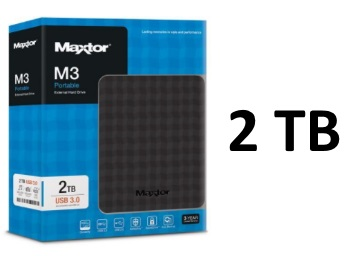 [69% Claimed]:- Seagate Maxtor 2TB M3 External Hard drive at Rs. 4924 discount deal