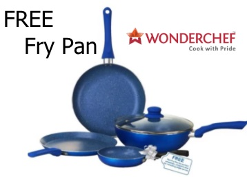 Now IN Stock: Wonderchef Non-Stick Velvet Cookware Set at Rs. 1395 discount deal