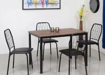 Mega Discount – Nilkamal Danish Engineered Wood 4 Seater Dining Set low price