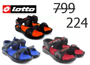 Last Day Listing:- Lotto Grey/Red Sports Sandals at Just Rs. 224 [Hurry] discount deal