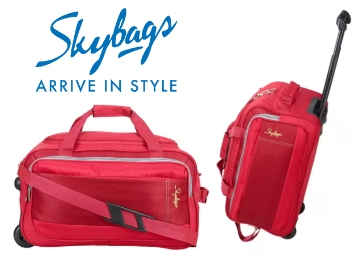 6 Hours Only – Skybags Cardiff 21 Inch Duffel Strolley Bag at Rs. 1180 low price