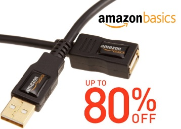 Upto 80% Off : Amazon Basics Cable From Just Rs.147 + FREE Shipping discount deal