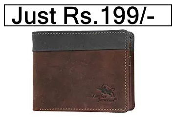Min.70% – 80% Off On Leather Wallet + Extra Rs.75 Cashback discount deal