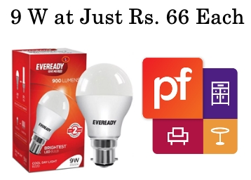 3 Left In Stock – Eveready LED Bulb Combo 9W – 6500K at Just Rs. 66 Each low price