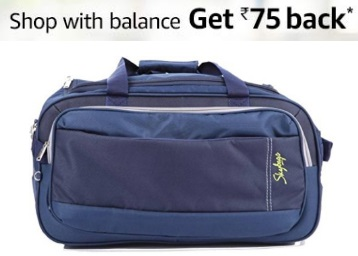 Affordable Price:- Skybags Cardiff 55 cms Blue Duffle at Just Rs. 959 low price