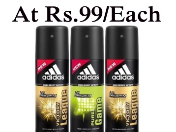 In Stock – Adidas Deodorant Spray For Men Pack of 3 at Just Rs.298 low price
