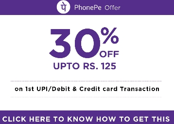 PhonePe TicketNew Offer : Get 30% Cashback Upto Rs 125 on Movie Tickets discount deal