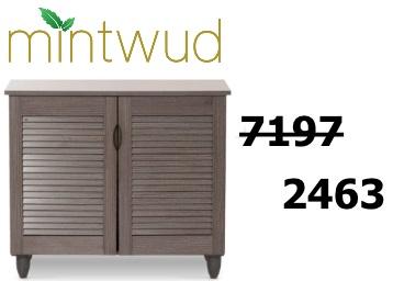Biggest Discount:- Mintwud Jurou Two Door Shoe Cabinet at Just Rs. 2463 low price